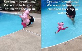 Metoda eficientă prin care o instructoare de înot îi învață pe copii să supraviețuiască în apă