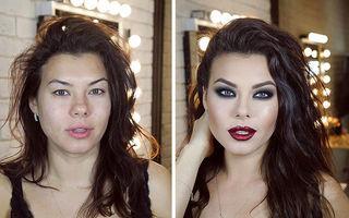 """""""Efectul Cenușăreasa"""": Cum reușește un makeup artist să transforme femeile obișnuite în dive"""