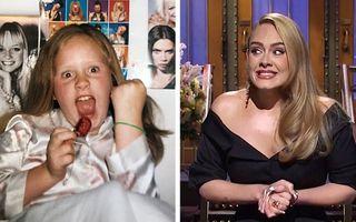 23 de vedete care au scos din album imagini din trecutul lor: Cum arăta Adele când era copil
