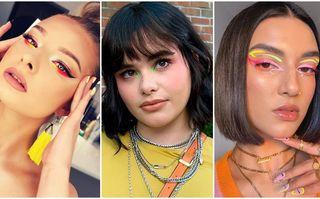 Cum să porți machiajul ochilor în nuanțe neon, trendul acestui sezon. 20 de idei