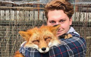 A salvat o vulpe care urma să fie ucisă pentru blană. Acum e cel mai bun prieten al său - FOTO