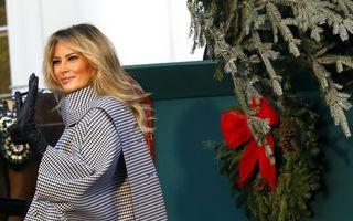 Melania Trump, ultimul Crăciun la Casa Albă: Prima Doamnă a Americii a primit bradul, dar n-are chef de decorațiuni