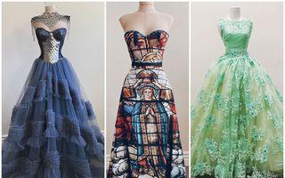 În urmă cu 4 ani nu știa să coasă, iar acum creează peste 100 de ținute pe an. 35 de rochii spectaculoase