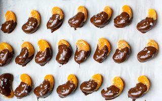 Clementine glazurate cu ciocolată