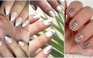 50 de idei pentru manichiuri nail art în alb și negru