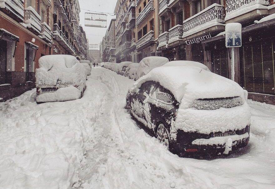 Madrid iarna