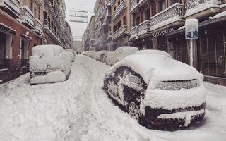 Iadul alb din Madrid: 35 de imagini care par făcute în Rusia