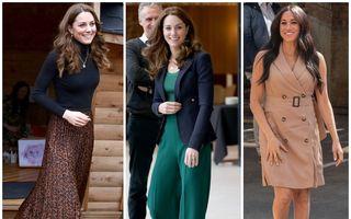 Cele mai ieftine piese vestimentare purtate de-a lungul timpului de Kate Middleton și Meghan Markle