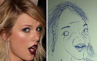 30 de vedete așa cum nu le-ai mai văzut: Desenele ciudate de care râde toată lumea