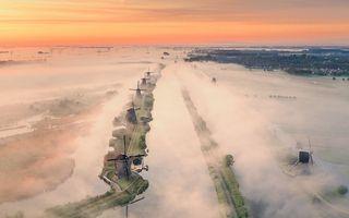 Olanda, o țară ca-n povești: 20 de imagini fantastice făcute de un pilot de avion