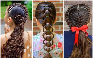 O mamică a devenit expertă în împletituri pentru cele două fetițe ale sale: Coafurile lor arată spectaculos!
