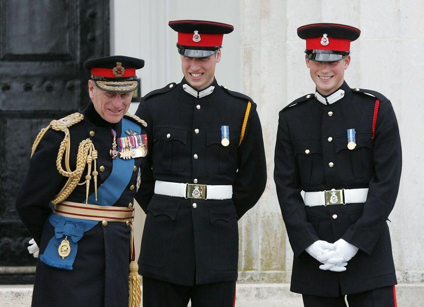 Printul Philip, Printul Harry, Printul William