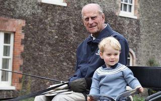 Copiii ducesei Kate îi duc dorul străbunicului lor: Prințul Philip le lipsește enorm