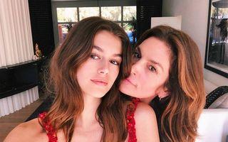 17 imagini cu vedete și copiii lor care le seamănă perfect. Cindy Crawford și Kaia Gerber par surori gemene!