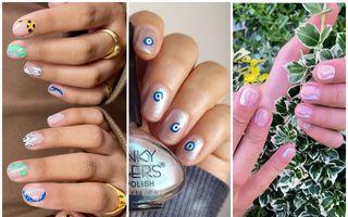 Unghiile scurte sunt din nou în trend: 40 de manichiuri nail art pe care să le încerci