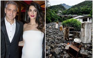 George Clooney, sinistrat: Vila sa din Italia a fost inundată, în timp ce actorul se afla în casă împreună cu soția și cei doi copii