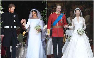 Meghan Markle a întrecut-o pe Kate Middleton: Rochia ei este cea mai populară rochie de mireasă a deceniului. A lui Kate este pe locul 2