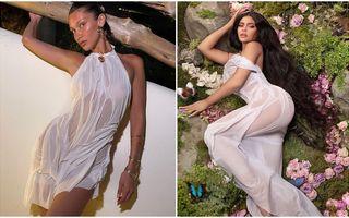 """Noul trend în rândul vedetelor: Poartă """"rochii ude"""" și transparente, creațiile designerului Di Petsa"""
