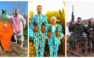 O bunică în vârstă de 95 de ani și nepotul său dovedesc că distracția nu are limită de vârstă. Costumele lor sunt geniale!