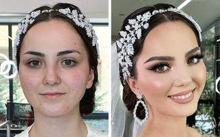 Makeup artistul care le transformă pe viitoarele mirese în adevărate prințese. 20 de imagini înainte și după