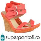 Castiga o pereche de sandale  Raffia Joop Pink